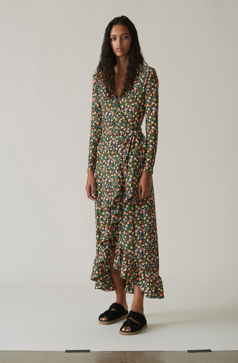 Alameda Wrap Dress, Multicolour, hi-res