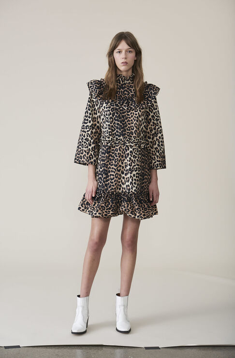 Bijou Mini Dress, Leopard, hi-res