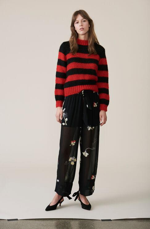 Faucher Striped Pullover, Black, hi-res