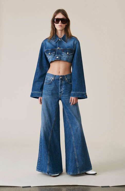 Denim Runway Pants, Indigo, hi-res