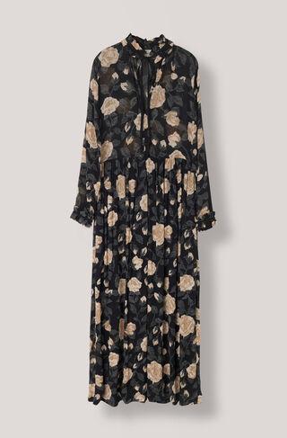 Carlton Georgette Maxi Dress, Black, hi-res