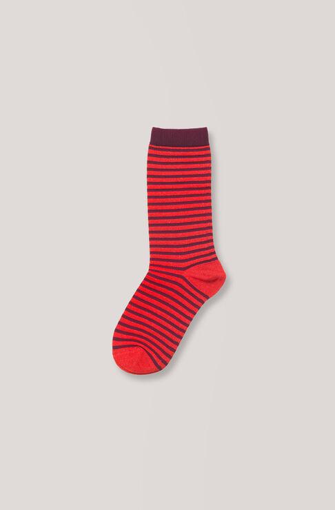Classon Stripe Ankle Socks, Decadent Chocolate, hi-res