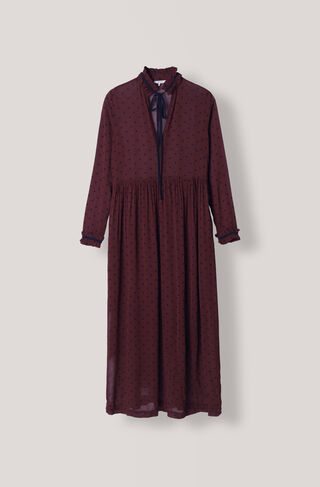 Carlton Georgette Maxi Dress, Decadent Chocolate, hi-res