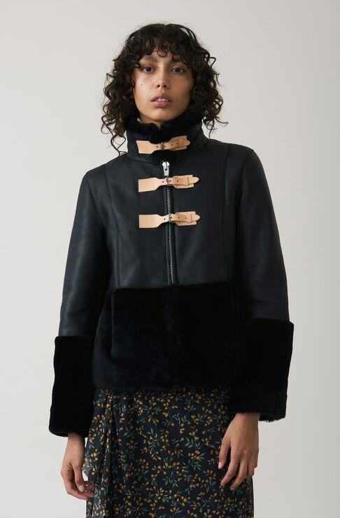 Lexington Shearling Jacket, Black, hi-res