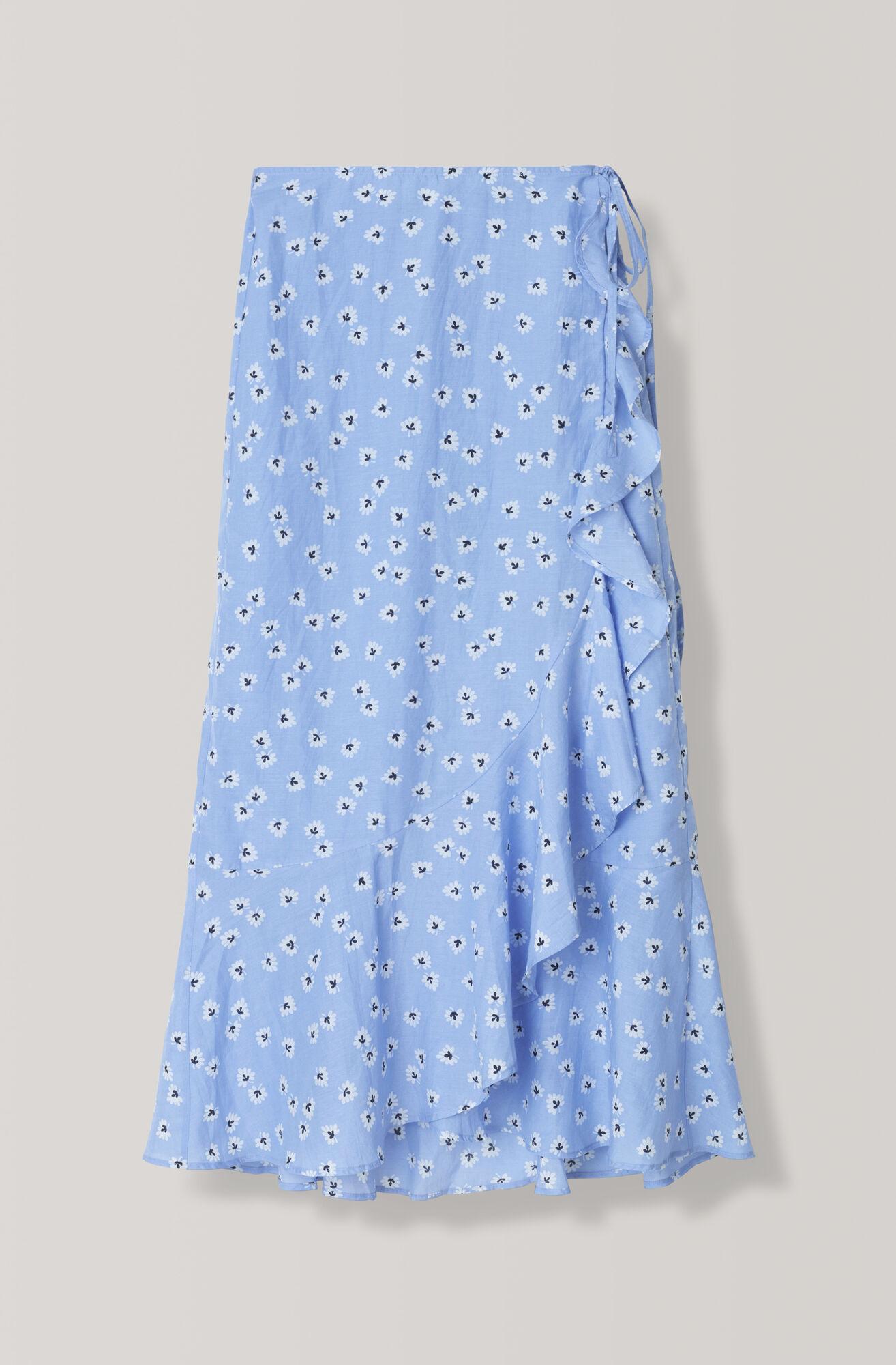 Beacon Wrap Skirt, Serenity Blue, hi-res