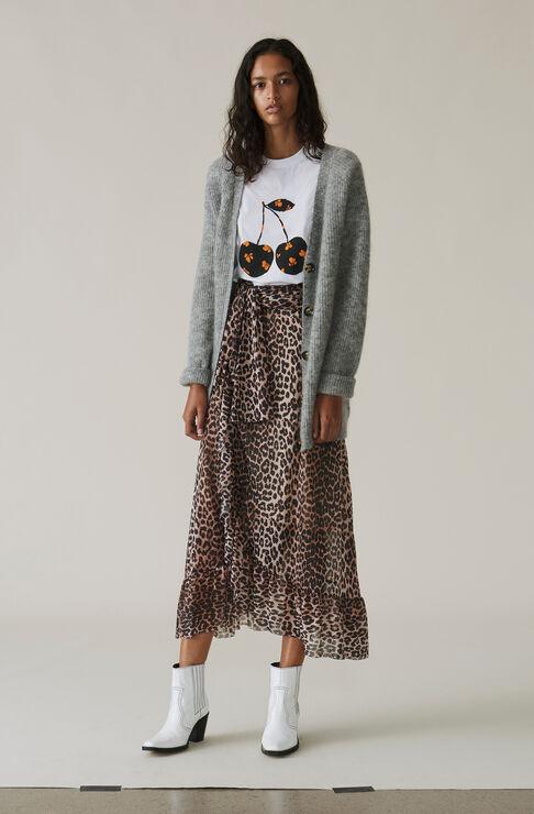 Tilden Mesh Skirt, Leopard, hi-res