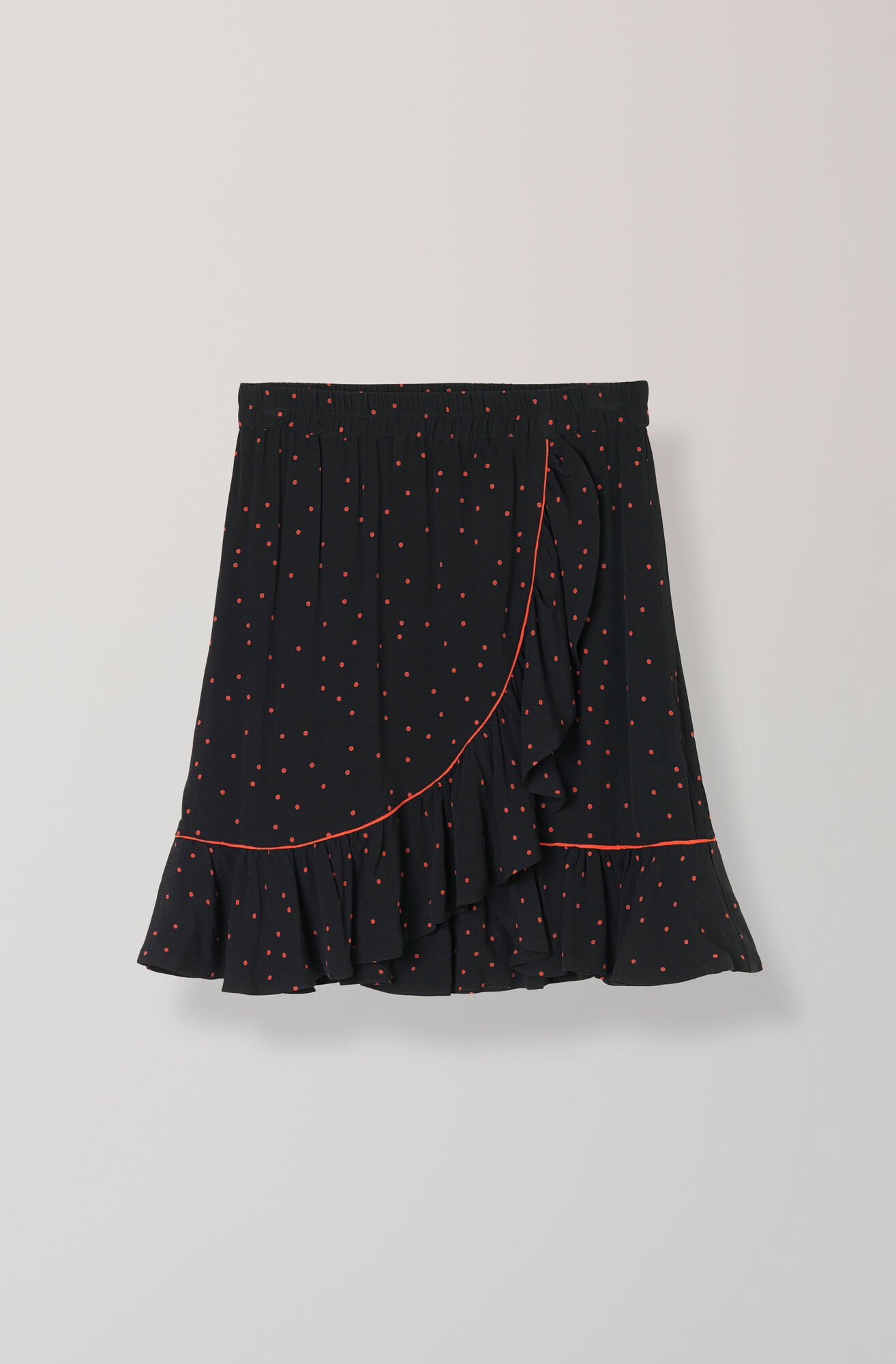 Emory Crepe Skirt, Black, hi-res