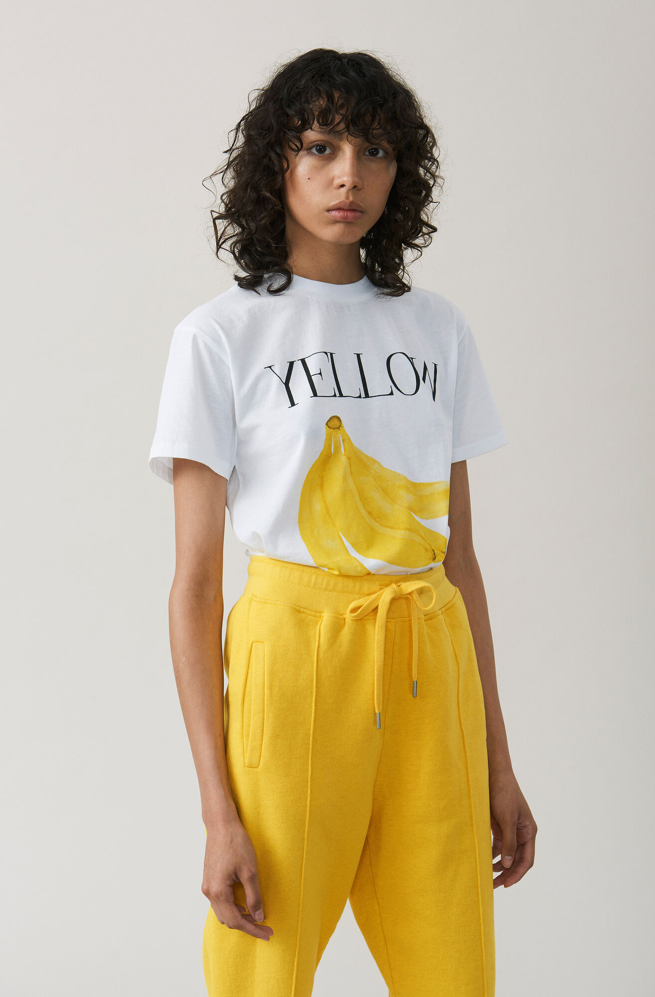 Harway T-shirt, Banana, Bright White, hi-res