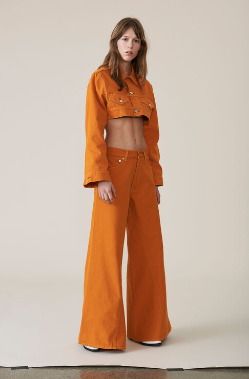 Denim Runway Pants, Turmeric Orange, hi-res
