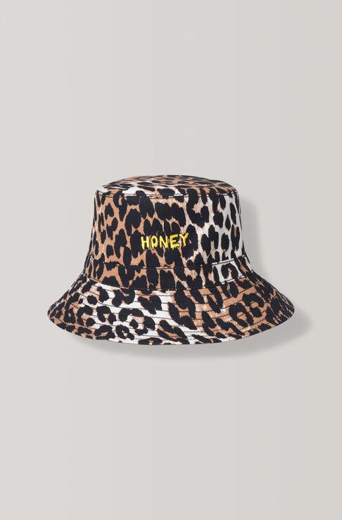 Fabre Cotton Hat, Leopard, hi-res