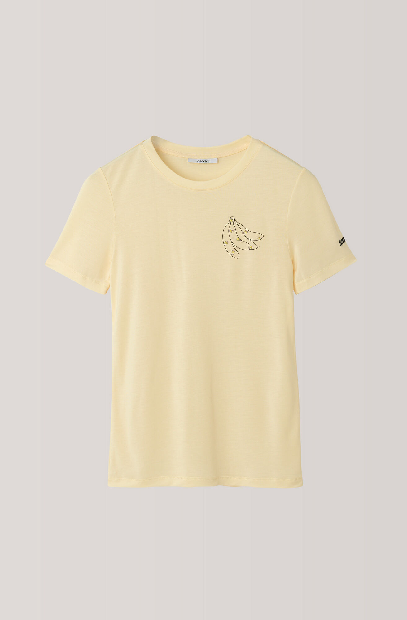 Linfield Lyocell T-shirt, Banana, Anise Flower, hi-res