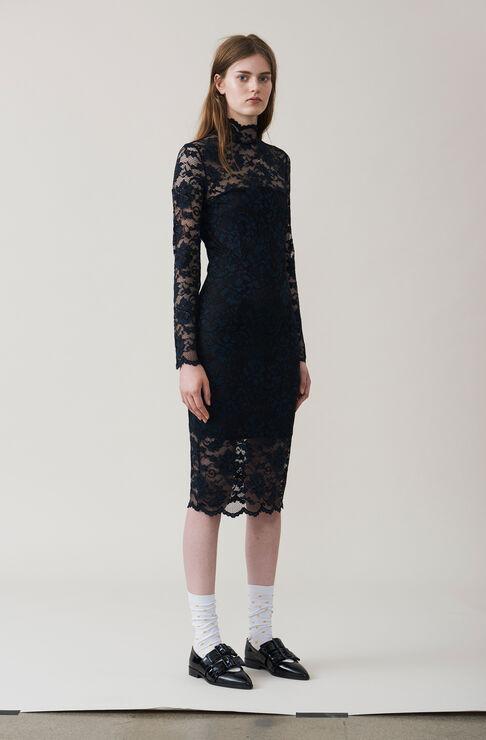 Flynn Lace Dress, Black, hi-res