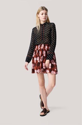 Monette Georgette Skirt, Brandy Brown, hi-res