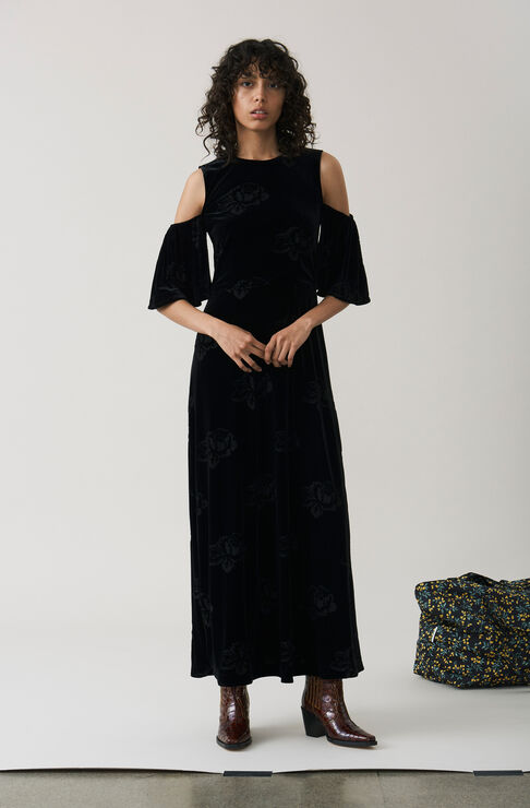 Bloomsbury Maxi Dress, Black, hi-res