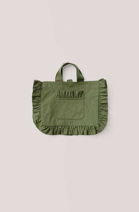 Fabre Cotton Tote Bag, Army, hi-res