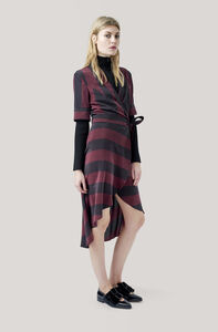 Maple Silk Wrap Dress, Decadent Chocolate, hi-res