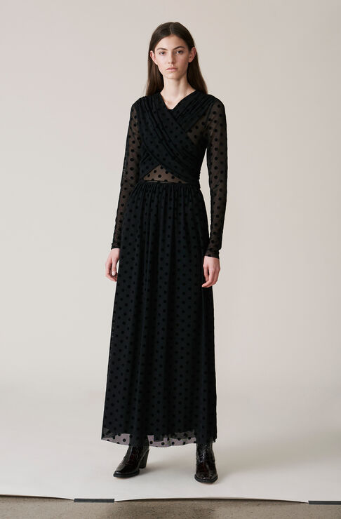 Valmy Maxi Dress, Black, hi-res