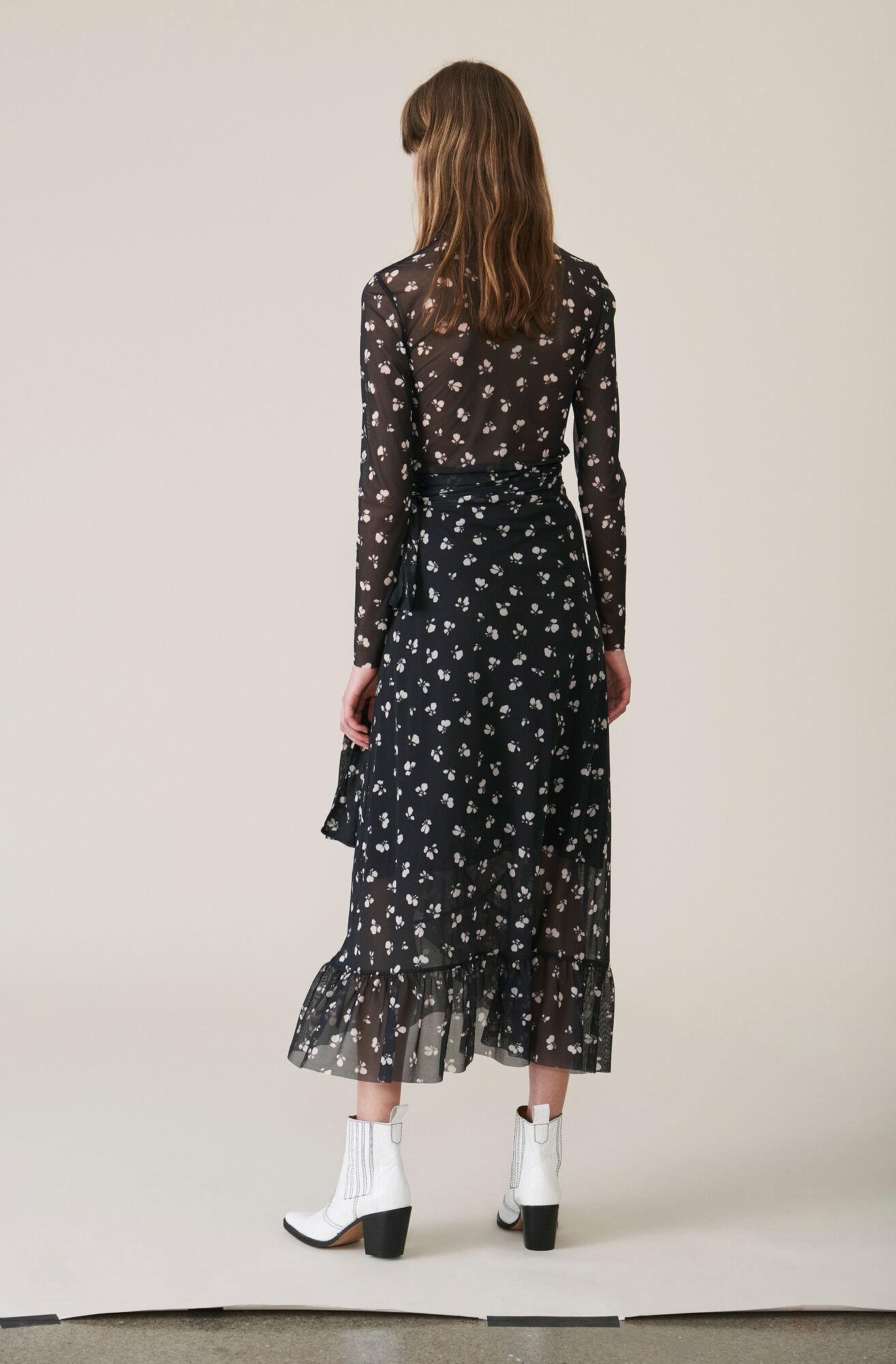Tilden Mesh Wrap Skirt, Black, hi-res
