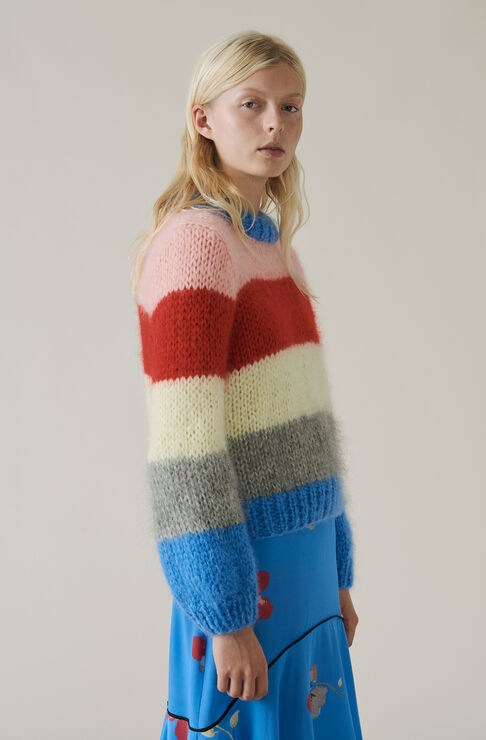 The Julliard Mohair Pullover, Block Colour, hi-res
