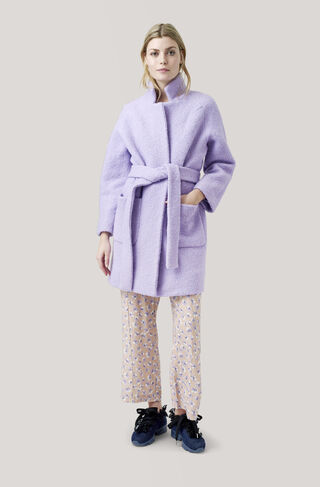 Fenn Wrap Coat, Pastel Lilac, hi-res