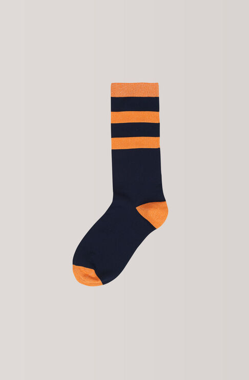Classon Stripe Ankle Socks, Total Eclipse, hi-res