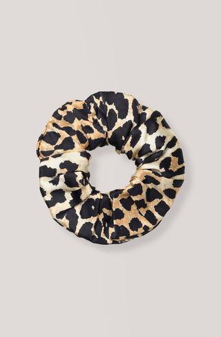 Dufort Silk Scrunchie, Leopard, hi-res