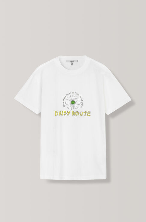 Harway T-Shirt, Daisy Route, Bright White, hi-res