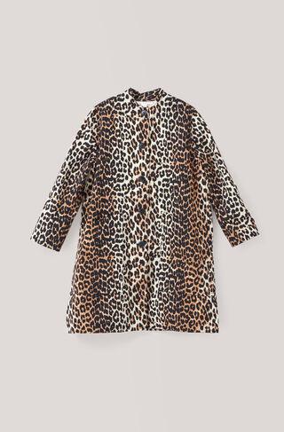 Fabre Cotton Coat, Leopard, hi-res