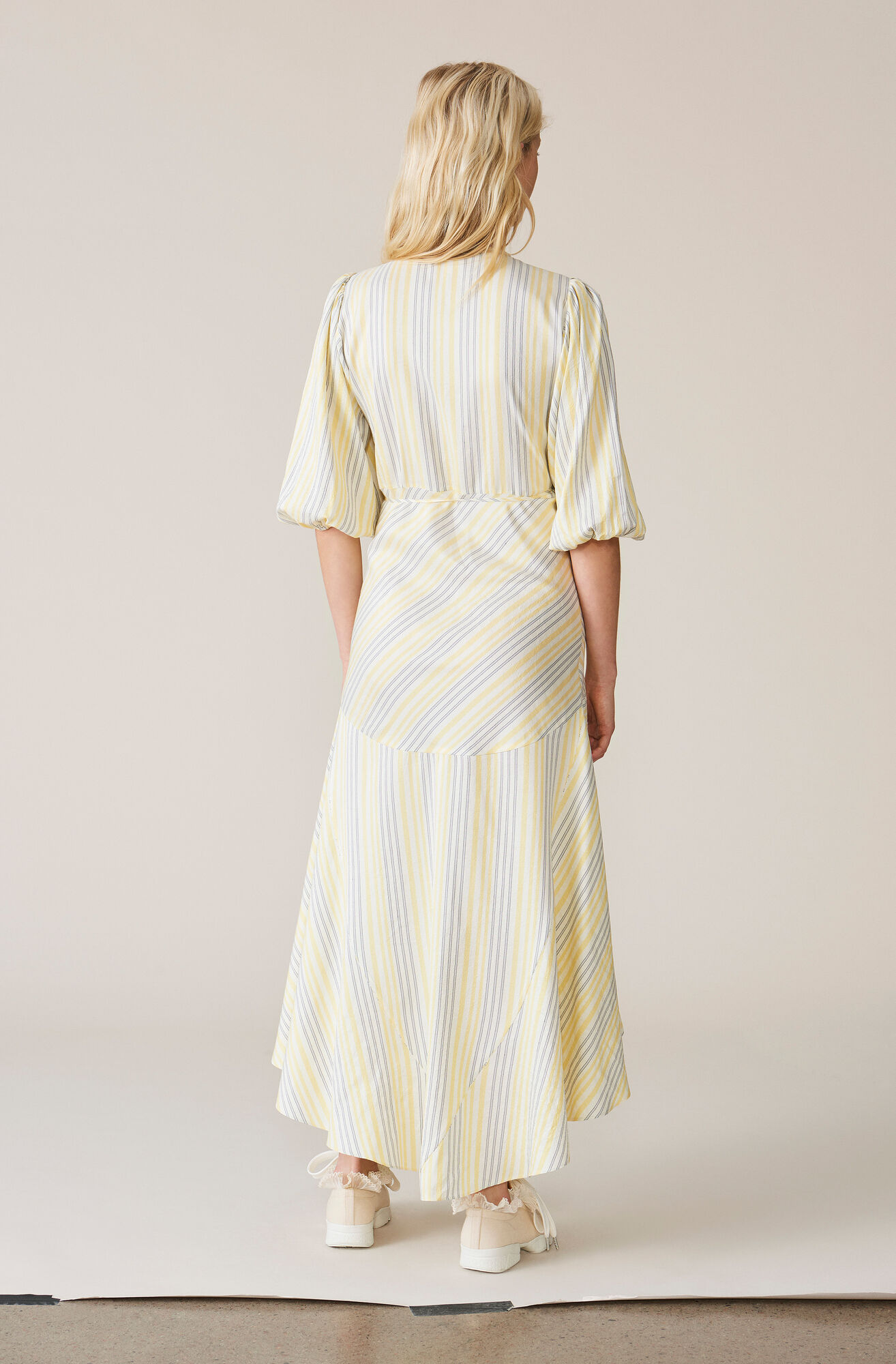 Bergamot Silk Wrap Dress, Vanilla Ice, hi-res