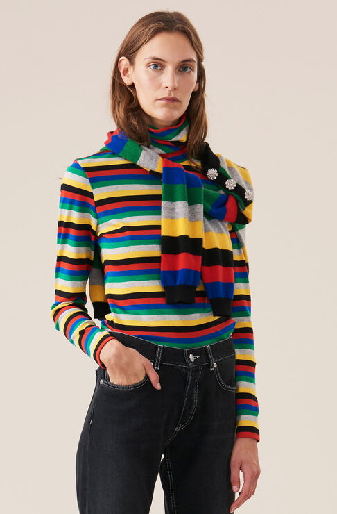 Rullekrage, Stripes, Multicolour, hi-res