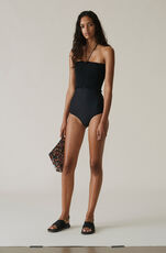 Ipanema Swimwear Solid Swimsuit, Black, hi-res