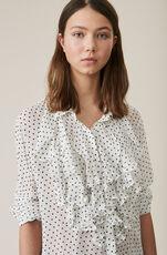 Rometty Georgette Shirt, Egret, hi-res