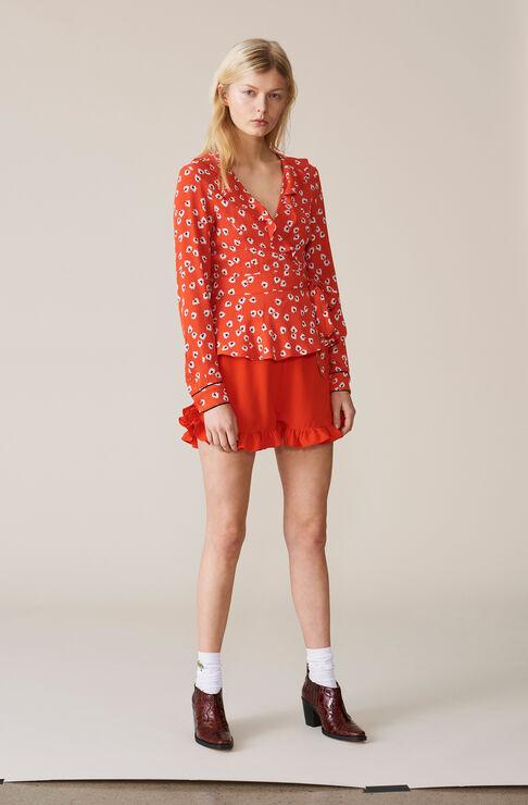 Heavy Crepe Shorts, Big Apple Red, hi-res
