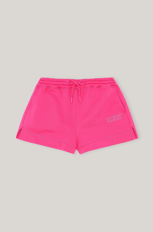 가니 GANNI Software Drawstring Isoli Shorts,Shocking Pink