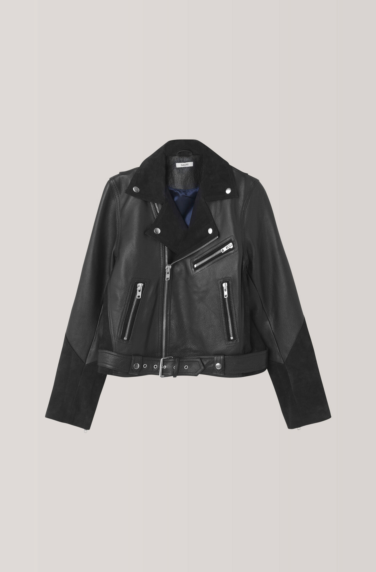 Lloyd Biker Jacket, Black, hi-res