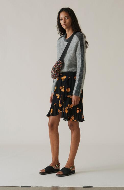 Fairfax Georgette Skirt, Black, hi-res