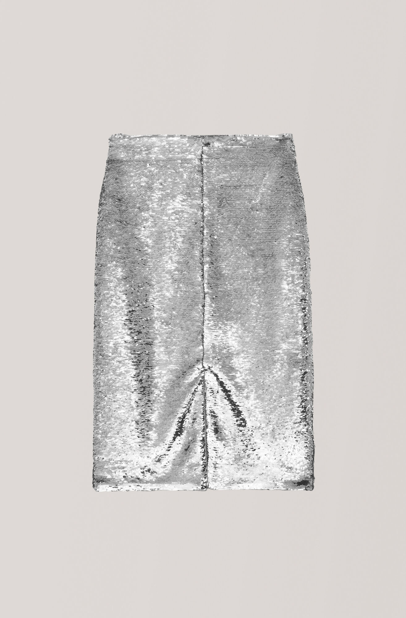 Sequins Skirt, Silver, hi-res
