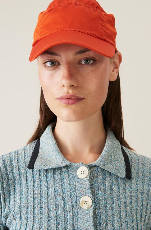 Ganni SATIN RUCHED CAP