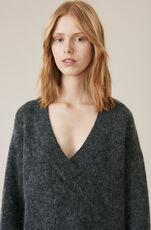 Callahan V-neck Pullover, Ebony Melange, hi-res