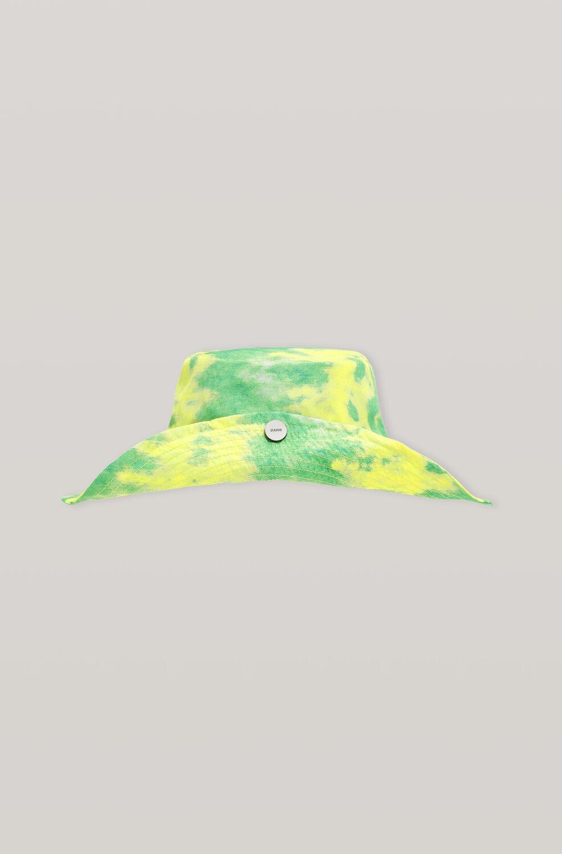 가니 썬햇 Ganni Recycled Tech Fabric Snap Sun Hat,Kelly Green