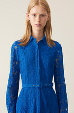 Cotton Lace Maxikjole, Lapis Blue, hi-res