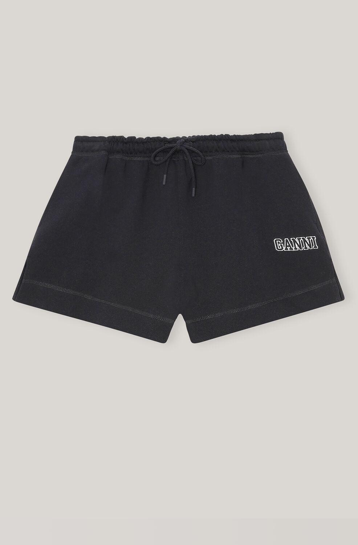 Ganni Software Isoli Drawstring Shorts,Black