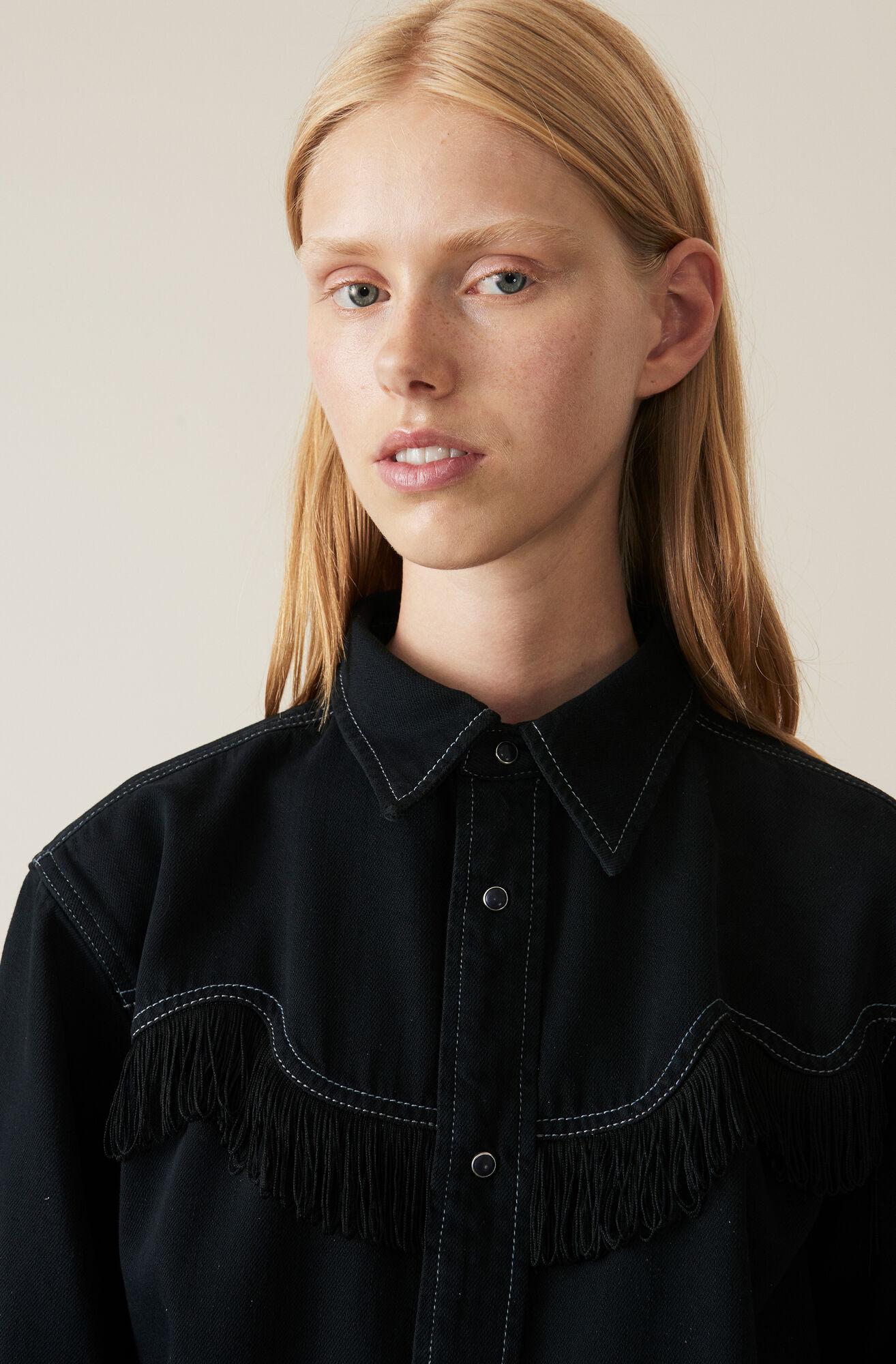 Soft Denim Shirt, Black Washed, hi-res