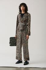 Fayette Silk Wrap Top, Leopard, hi-res