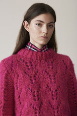 The Julliard Mohair Pullover, Fuchsia Purple, hi-res