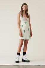 Hand Beaded Mini Dress, Egret, hi-res