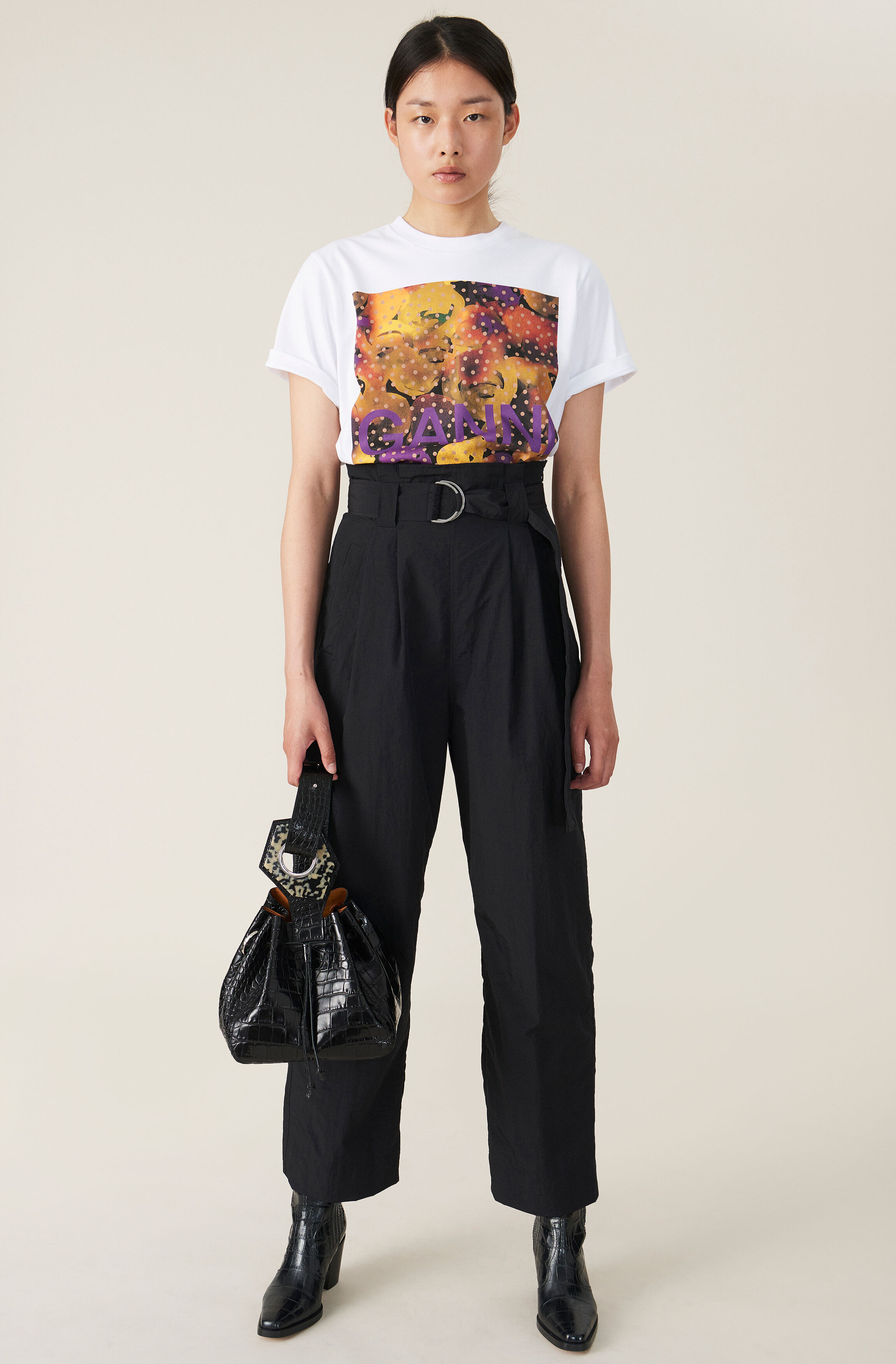 Business As Usual High Waisted Tailored Trousers in Black