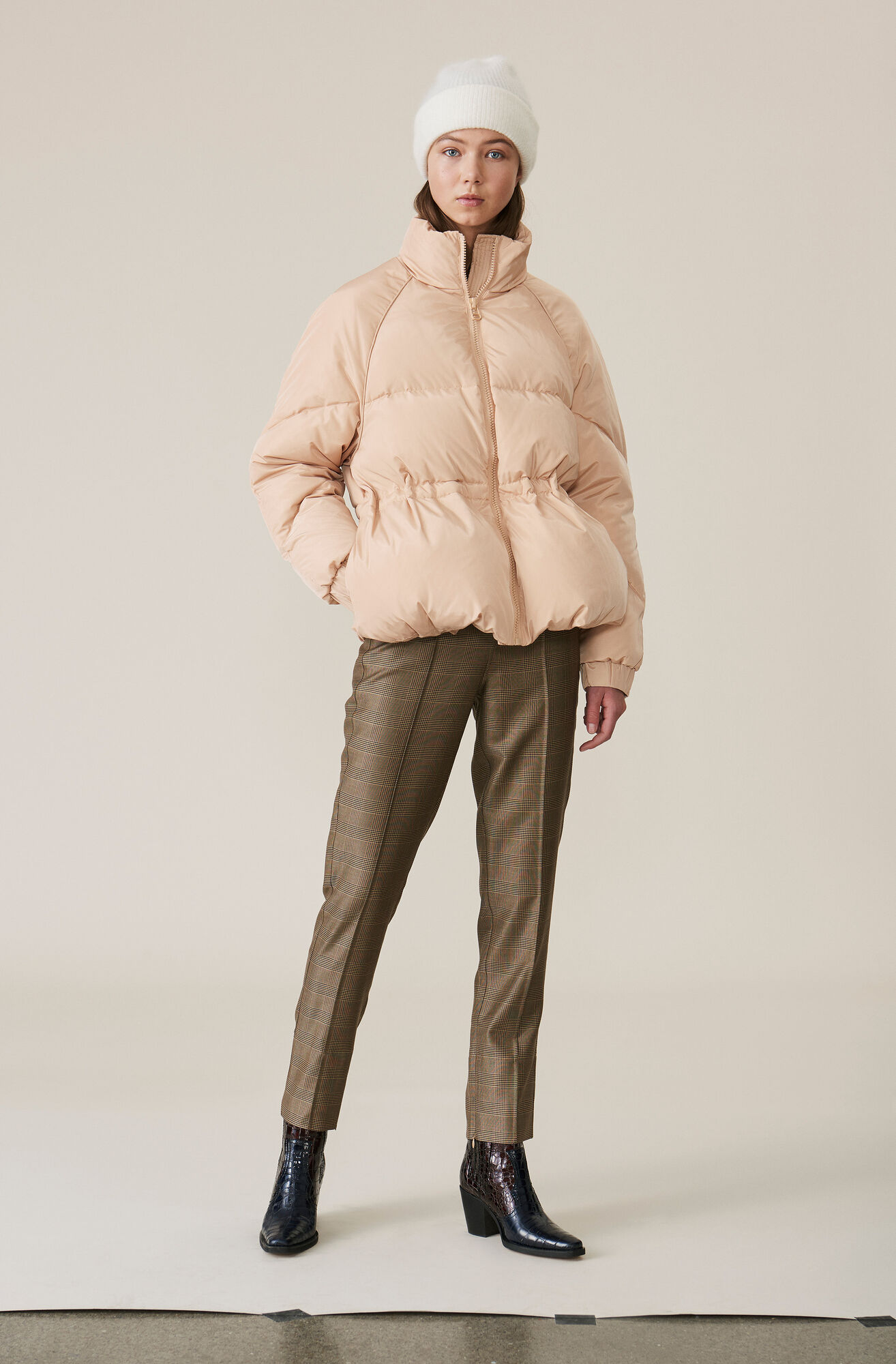 Silk Wool Suiting Hose, Hazelnut, hi-res