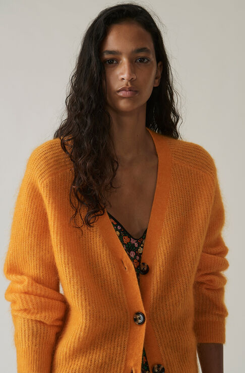 Evangelista Cardigan, Turmeric Orange, hi-res
