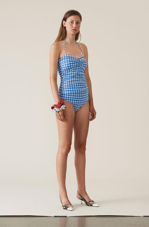 Seersucker Swimwear Badedragt, Lapis Blue, hi-res